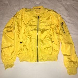 NWT Yellow light weight bomber jacket